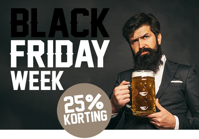 Black Friday Week: 25% korting op ALLES!