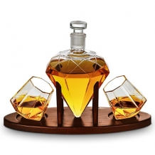 Deluxe Diamond decanter set - 850 ml
